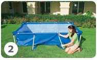 intex metal frame pool opzetten